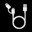 Кабель питания Xiaomi 2 in 1 Micro-USB vs Type-С