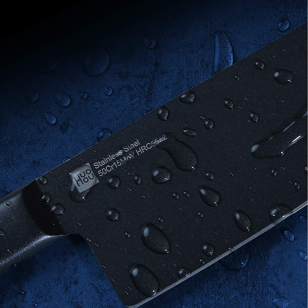 Набор кухонных ножей Xiaomi HuoHou black non-stick knife set