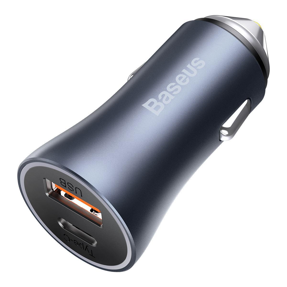 Автомобильное зарядное устройство Baseus Golden Contactor Pro Dual 40W